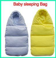 Wholesale Baby Sleeping Bag Down - 10PCS Baby sleeping Bag winter Envelope for newborns sleep thermal sack Cotton kids sleepsack in the carriage wheelchairs chlafsack