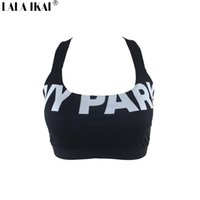 Wholesale Parks Sports - Wholesale-Short Summer Tops 2016 Women Fitness Halter IVY Park Bra Crop Top Woman Sexy Beyonce Black White Sport Gym Tank Top SWL0218