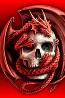 Wholesale Female Cloths - DIY Diamond Painting Embroidery 5D Red Dragon Skull Cross Stitch Crystal Square Home Bedroom Wall Art Decoration Decor Craft Gift