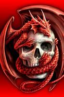 ingrosso decorazioni di drago rosso-Pittura diamante diy ricamo 5d drago rosso cranio punto croce di cristallo piazza casa camera da letto decorazione di arte della parete decor regalo mestiere
