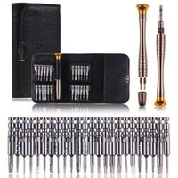 Wholesale Screwdriver Set Cell Phone - free shipping Cell Phone Repair Tools Set 25 in 1 Precision Torx Screwdriver for iPhone Samsung Laptop Cellphone Electronics SJWX-1