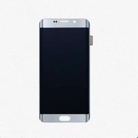 lcd samsung s6 edge venda por atacado-Substituição do conjunto do digitador da tela de toque do LCD para a borda da galáxia S6 de Samsung mais o branco