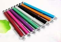 Wholesale Mini Metal Touch Screen Pen - Wholesale 1000pcs lot Capacitive screen Metal stylus touch pen with clip for iphone3G 3GS 4 4S iphone 5  iPad mini iPad iPod touch