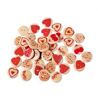 botão marrom madeira venda por atacado-2016 New hot lovely handmade diy acessórios pequenos botões de coração de madeira scrapbooking para o ofício do casamento Suprimentos de Costura