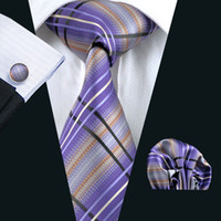 Wholesale Purple Silk Wide Ties - 5 Colors Luxury Wool Ties for Men 6 cm Wide New Fashion Necktie Stripes Wedding Solid Purple Black Grey Silk Tie Retail N-0457 l