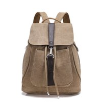 Wholesale Dropship Lady Bags - 6 Colors Retro New Student Style Shoulder Canvas Backpack Lady Women Casual Backpacks Travel Bags Totes GLB083 Support Dropship