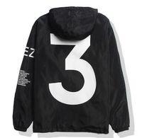 y3 hombres al por mayor-Carga gratuita Y3 YEEZUS chaqueta de hip hop KANYE patineta cortaviento TOUR Hombres Mujeres Streetwear Chaqueta de uniforme negro elegante chaqueta blanca