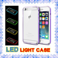 Wholesale universal wallet 3.5 resale online - LED Light Cases Hybrid incoming calls flash Up Case for iphone s SE s plus Samsung note S6 S7 edge