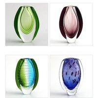 vasos para decorações de mesa de casamento venda por atacado-Vaso De Vidro Decoração Do casamento Artesanal de Vidro Murano Murano Hidropônico Vaso De Vidro Enfeites de decoração para casa Artística Decoração de Mesa Vasos