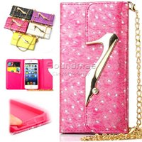 Wholesale S4 Holder Card Id - For Iphone 6s plus Pu Wallet Flip Cover With ID Card Holder For iphone se 5 5s 6 6s plus 4.7 5.5 Samsung galaxy S4 5 6 edge plus Note 4 5