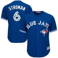 Wholesale Cheap Green Shorts - 2017 New Cheap Mens's Toronto Blue Jays Jersey #6 Marcus Stroman Baseball Jerseys White Blue Gray,Embroidery,A+++ Quality