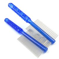 Wholesale Stainless Steel Dog Teeth - 7.5 inch pet grooming brush deshedding comb tools for cat dog horse Long and Short Hair Pets Grooming Stainless Steel teeth