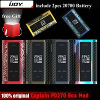 Vente en gros- Original IJOY Captain PD270 Box Mod Vape 234W NI / TI / SS TC Electronic Cigarette Vaper Power by Dual 20700 Battery
