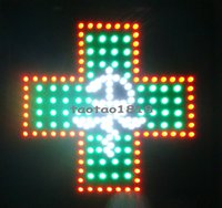 Wholesale Neon Crosses - 2016 Direct Selling Graphics 15mm pixels indoor Led Business Shop Open Neon Sign 19x19 Inch led pharmacy cross sign