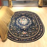 Wholesale Oval Carpets - Big size London style oval bedside carpet , living room decoration carpet, round blue ground mat ,160cm*230cm free shipping