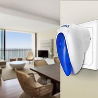 musikklänge großhandel-Neue Smarthome Wireless Türklingel Plug-in Push-Taste mit LED-Anzeige Eingebaute Musik 36 Chimes für Home Office, LED-Anzeige auf Push