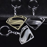 Wholesale Decor Chains - Batman V Superman: Dawn of Justice Symbol Logo Metal Pendant Keychain Key Chain Ring Keyring Holder Pendant Dangle Decor Accessor