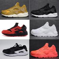 Wholesale Free Shoes Online - 2017 Original quality Air huarache triple white black huarache men & women shoes sports sneaker For online hot sale Free shipping size 36-45