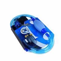 aspiradora filtro de limpieza al por mayor-Limpiador de grava acuario Herramienta de limpieza de sifón sifón Herramientas Filtro semiautomático Aspirador de acuario