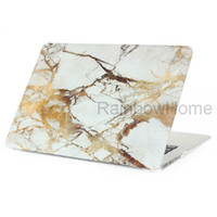 Wholesale laptops 15 inch china resale online - Marble Granite Design Plastic Crystal Case Cover Protective Shell Sleeve for Macbook Air Pro Retina inch Water Decal Cases Sample