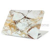 macbook air pro 13 venda por atacado-Projeto de granito de mármore de plástico de cristal case capa protetora shell manga para macbook air pro retina 11 13 15 polegada decalque casos de água amostra