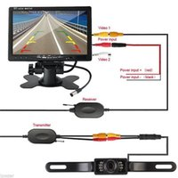 Wholesale Ntsc Dc 12v - 7 Inch Color TFT LCD DC 12V Car Monitor Rear View Display With 2 Channels Video Input Reversing Rear View Camera