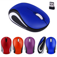 Wholesale Top Quality Notebooks - Top Quality Cute Mini 2.4 GHz 2000DPI Wireless Optical Mouse Mice For PC Laptop Notebook + USB Receiver 4Colors MAR24