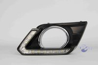 Wholesale Daytime Running Led Nissan - 1 Pair For Nissan X-trail X trail Xtrail 2014 2015 2016 Daylight Car LED DRL Daytime Running Lights with turn signal Fog Lamp