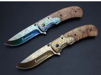 Wholesale Pretty Cut - Camping Knife Browning Pretty Pattern EDC Pocket Folding Knife Fast-Open 5Cr13 58HRC Blade Cutting Tools 2 Style Outdoor Gear F739L