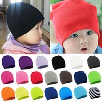 Wholesale toddler fashion hats - Winter Cindy Colors Fashion Style New Unisex Newborn Baby Boy Girl Toddler Infant Cotton Soft Cute Hat Cap Beanie