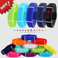 Wholesale Digital Display Watch Women - 50% LED Watch 2016 Fashion Sport Digital Watch Silicone Bracelet Watch For Women Men Kids Wristwatch Free Shipping