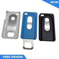 Wholesale Iphone Bottle Openers - Stainless Steel PVC Full Color Iphone bottle opener with accept customized logo