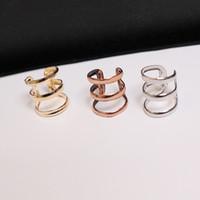 Wholesale rock alloy earring resale online - Clip On Earrings Unisex Fashion Punk Rock Ear Clip Cuff Wrap No piercing Clip On Earring