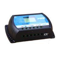 controlador de carga solar pantalla lcd al por mayor-Wholesale-PWM 12V 24V 30A Controlador de carga solar con salida de 3A 5V USB Pantalla LCD grande para Max 50V 720W Panel solar RTD-30A ajustable
