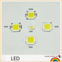 Wholesale Beads Chips - Super bright DIY led lamp beads 10W 20W 30W 50W 100W high power Chip for LED Floodlight lamp white   warm white outdoor lighting