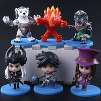 Wholesale car toy boys kid - HOT League of Legends Action Figures all heroes 10cm PVC Figure Toys As a souvenir for the boy decorate the room the car