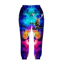 Wholesale Galaxy Trousers - Newest fashion men women's 3d pant Funny printed animal Lucky bird space galaxy trousers lovely joggers autumn clothes