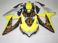 carenados r1 fimer al por mayor-Nuevo kit de carenado de motocicletas ABS de inyección de moldeo Fit para suzuki GSXR 600 750 2008 2009 2010 K8 GSXR600 GSXR750 08 09 10 GSX-R 600 750