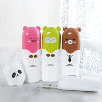 Wholesale Cute cartoon children toothpaste toothbrush cup towel storage plastic box case for travel hiking outdoor Practical storage case