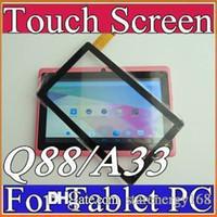 ingrosso allwinner a13 q88 compresse-Sostituzione del convertitore analogico / digitale del vetro del touch screen anteriore dell'OEM per Q88 Allwinner A13 A23 A33 ATM7021 ATM7029 7 pollici 7