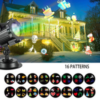 Wholesale Wholesale Slide Projector - LED Christmas Light Projector Newest Version Led Landscape Snowflake Spotlight with 16 Slides Dynamic Lighting Show for Halloween Party