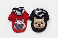 Wholesale Pitbull Jacket - Dog Coat Pitbull Boxer Head Pet Costume Clothing Cat Dog Puppy Hoodie Winter Clothes for Dogs Warn Sweater Pet Christmas Gift 2 Color 4Sizes