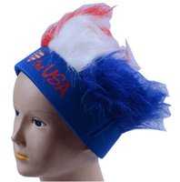 Wholesale World Cup Fans Wigs Explosion Head Color Clown Wigs Play Fake Heads Boots Hot