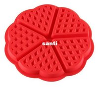 Wholesale waffle mold - New Arrive Heart-shaped Waffles Mold 5-Cavity Bundt Oven Muffins Baking Mould Cake Pan Silicone Mold Tool