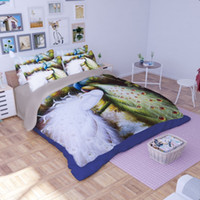 Wholesale King Size Peacock Bedding - 3D Bedding Set Tiger & Peacock Pattern Twin Queen King Size Muilt-Color 4pcs Polyester Duvet Cover Custome California King 3pcs Mix Wholesal