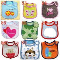 Wholesale Breast Feeding Pad Cotton - Infant Burp Canvas Feeding Baby Breast Pads Cute Cartoon Pattern Toddlers Waterproof Saliva Towel Cotton Suitable 117 Modes