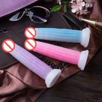 Wholesale Anal Cup - Sex toys dildo Trans colors Corn Cob Shape Dildo Realistic Waterproof Penic Vibrator with Suction Cup Female Sex Toys masturbating Massager
