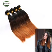 Indian 3 Tone Ombre Straight Long Hair Hair Bundles 3 Pcs Remy Hair Honey Loira Indiana Straight Human Hair Weave Sale