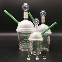 Wholesale green cup bong for sale - Group buy Starbucks Cup oil rig water bongs with glass dome and nail green dab concentrate mm mm mm joint beaker bong honey bucket