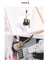 instruments de musique de violon achat en gros de-Signet Métal Or Signets Creative Mariage instrument de musique Musique Est Mon Âme Trompette Violon Accordin Harpe Guitare Piano Livraison Gratuite DHL